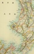1891 Antique Map New Zealand North And South Island Wellington Stewart New Guinea