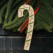 2021 Wallace Candy Cane 41st Edition Annual Goldplate And Enamel Ornament Nib
