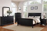 Traditional Style Cherry Wood Beds Dresser Queen King Bedroom Furniture 5 Pc Set