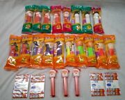 Pez Lot Of 25 Christmas And Halloween Dispensers With Refills