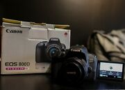 Canon Eos 800d Digital Slr Camera With 18-55 Is Stm Lens Black And 50mm 1.8 Lens