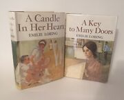Emilie Loring Lot - 1st Hardcover - A Key To Many Doors - A Candle In Her Heart