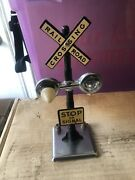 Marx O Scale Railroad Crossing Sign For Parts