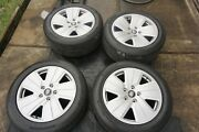 19 Porsche Taycan Staggered Factory Oem Silver Wheels Rims Hankook Tires