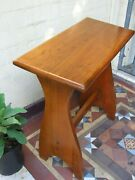 Antique Maple Piano Stool Slope Top Australian Federation Furniture 1920's