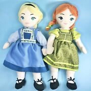Frozen On Broadway Elsa And Anna Plush Doll Set Disney Theatrical Group New York