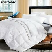 Four Seasons Quillt White Goose Down Comforter 100 Cotton Shell Top Quality Hot