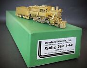 Ho Overland Omi Brass 1510 Reading D8sd 4-4-0 Steam Loco
