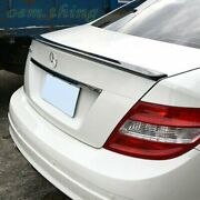 Fit For Mercedes Benz W204 C Class A Type Rear Trunk Spoiler Wing 4dr Sedan