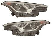Pair Right Left Headlights Head Lights Lamps For Toyota C-hr 2018 2019 1987c Usa