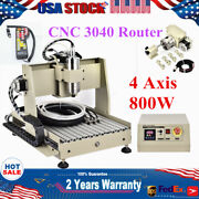 4 Axis 800w Cnc 3040 Router Engraver Wood Machine Diy Mill Drill 3d Cutter + Rc