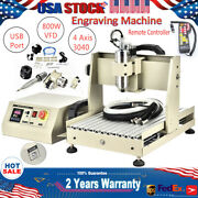 Usb 4 Axis 800w Engraver Diy 3d Milling Machine 110v Cnc 3040 Router+ Controller