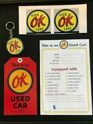 Ok Used Cars Set Key Chain Hang Tag Stickers/decals And Window Price/option