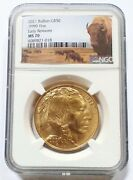 2021 American Gold Buffalo 1 Oz 50 - Ngc Ms70 Early Releases Bison Label White