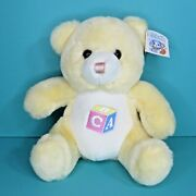 Vintage Dandee Soft Expressions Teddy Bear Plush Rattle Block Baby Powder Scent