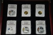 Beijing 2008 Olympic Coins Series Ii Pr69 Gold And Silver Set