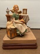 """1984 Norman Rockwell Museum """"dreams In The Antique Shop"""" Porcelain Figurine"""