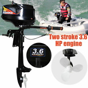 3.6hp 2stroke Manual Start Outboard Motor Boat Engine Water Cooling System Usa