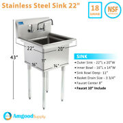 One Compartmnet Stainless Steel Sink | Utility | Commercial | Laundry | Kitchen