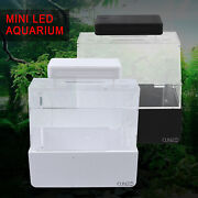 New Mini Complete Desktop Fish Tank Lid And Thermometer For Home And Office