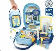Slf Diy Painting Toy Bag Pretend Play Doctor Set With Carrying Case