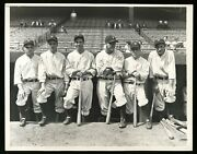 Lou Gehrig 1932 Yankees World Series Type 1 Original Photo Psa/dna Crystal Clear