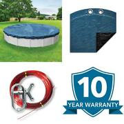 Super 21 Ft. Round Imperial Blue Solid Above Ground Winter Pool Cover