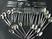 Antique Fascination Silver Plate Canada Cutlery Set S/steel Blade Knives 36 Pcs.