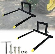 Adjustable 3 Point Tractor Pallet Forks Hitch Forks 1 Tractor Bucket Attachments