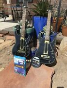 Wii U Guitar Hero Live Bundle With 2 Guitars And 2 Receivers / Dongles 2/ Straps