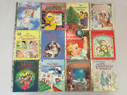 Christmas Little Golden Books Rudolph Mickey Jingle Bells Frosty Pooh Lot Of 17