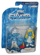The Smurfs Movie Clumsy And Smurfette 2013 Jakks Pacific Figure Set 2-pack