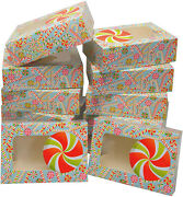 Madison Paper Christmas Cookie Gift Boxes With Window 12 Count