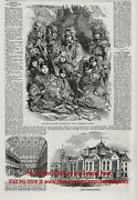 Ojibwe And Potawatomi Named Walpole Island 1850s Antique Engraving Print And Article