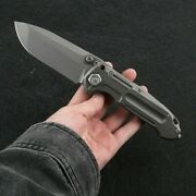 District 9 Hypocenter Limited Edition Titanium Alloy Tactical Edc Folding Knife