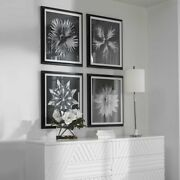Four Xxl 28 Black And White Floral Artwork Framed Prints Wall Art Uttermost 41427