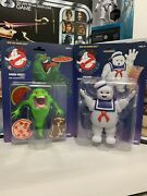 Kenner The Real Ghostbusters Classic Slimer And Stay Puft Marshmallow Figure Lot