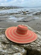 Get Sun Protection In Style With This Extra-wide Brim Striped Straw Sun Hat.