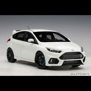 Limited Autoart 118 Scale Ford Focus Rs 2016 White Diecast Car Model Collection