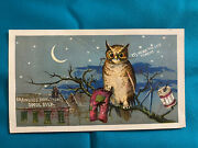 Victorian Trade Card Brainerd And Armstrong Spool Silk Owl Mend