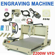 Usb Cnc 6090 Router 4axis Engraver Wood Carve Mill Machine 2200w W/ Rc