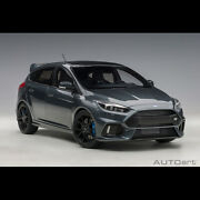 Autoart 118 Scale Ford Focus Rs 2016 Gray Diecast Model Car Limited New In Box