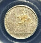 Rare 1937a Indo-chine Francaise 20 Cent Silver Coin Ø26mm+free1 Coin14059