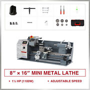 1.5 Hp 8x16 Inch 2250rpm Mini Metal Lathe For Turning Cutting Drilling Threading