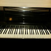 1963 Black Baldwin Acrosonic Piano With Bench Serial 740282 Local Pick Up Only