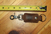 Old School Harley Davidson Motorcycles Leather Keychain And Clip