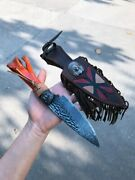 Damascus Tactical Hunting Knife Fixed Blade Outdoor Survival Collectible Knives