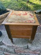 Vintage Antique Wood Commode Chamber Pot Toilet Bathroom 1800's