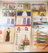 Lot Of 14 Simplicity Butterick And Mccalls Patterns 13 Never Cut 1 Cut And Complete