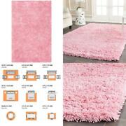 Classic Shag Ultra Pink 6 Ft. X 9 Ft. Area Rug